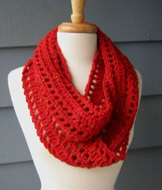 Love the pattern.  Ready to Ship Infinity Scarf 70 inches Crochet by ArtsyCrochet, $25.00