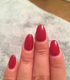 Red almond nails. Big Red Apple by Perfect Match Gel Polish.