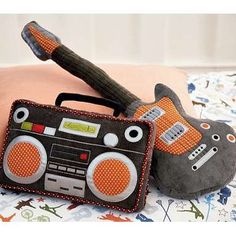 pillows stereo / guitar #sew-ideas