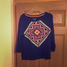 Navy sweater. Fits comfortably. In good condition. Navy sweater. Fits comfortably. Merona Tops Sweatshirts & Hoodies