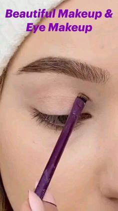 Eyebrow Makeup Tips, Eye Makeup Steps, Makeup Eye Looks, Eye Makeup Art, Contour Makeup, Skin Makeup, Eyeshadow Makeup, Pretty Eye Makeup, Hooded Eye Makeup Tutorial