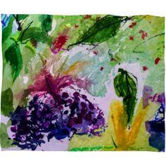 Ginette Fine Art Elder Berries Wild Fruit 2 Fleece Throw Blanket | DENY Designs Home Accessories