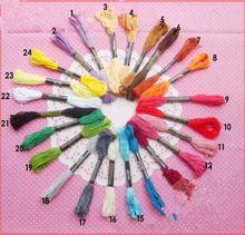 Вышивка крестом вышивка темы 24 цветов бесплатная доставка(China (Mainland))