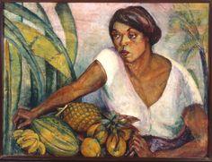 Tropical (1916). Anita Malfati (1889-1964) óleo sobre tela (77 X 102). Pinacoteca do Estado de São Paulo, Brasil.