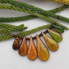 Polymer Clay Mica Frills and Alcohol Ink Necklace