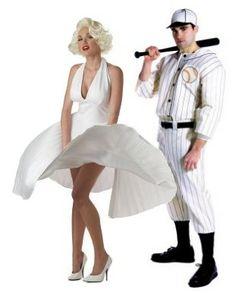 Joe DiMaggio and Marilyn Monroe Couple's Halloween Costumes