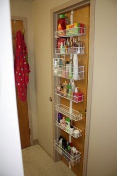 One of Abell Organizing's Top 10 Tricks for Organizing Your Dorm Room is to use vertical space in your dorm with the help of our elfa Overdoor & Wall Racks! They can be used long after graduation, too!