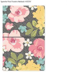 Typewriter Floral Traveler's Notebook