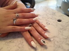 White stiletto Engagement Rings, Nails, Jewelry, Enagement Rings, Finger Nails, Wedding Rings, Jewlery, Ongles, Jewerly