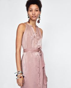 New clothes and accessories updated weekly at ZARA online. New Outfits, Summer Outfits, Zara, Holiday Wardrobe, Royal Ascot, Spring Summer 2018, New Dress, Wrap Dress, Cold Shoulder Dress