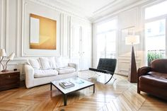Schau Dir dieses großartige Inserat bei Airbnb an: Parquet-moulures-cheminée in Paris