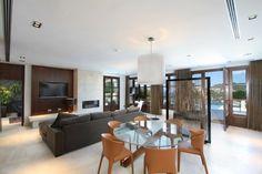 Minimal Modern TV Rooms in Mallorcan Villa
