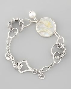 Dragon Pearl-Charm Link Bracelet by John Hardy at Neiman Marcus.