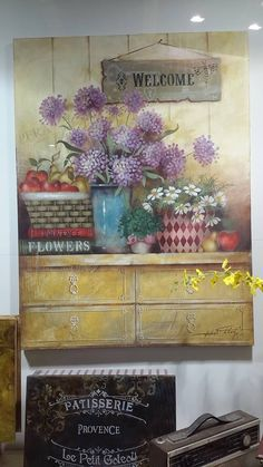 Stencils, Stencil Painting, Painting On Wood, Wood Pallet Art, Wood Pallets, Wood Art, Decoupage, Pintura Country, Decorative Boxes