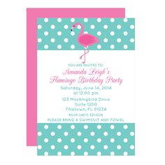 Free Flamingo Printable Party Invitation Template from @chicfetti