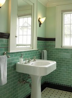 Love the tiles and the placement. (not the color combo.)