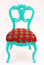 neon painted rococo furniture - Google Search