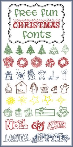 {enjoy the view}: More Free Christmas Font Fun!