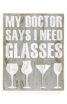 PRIMITIVES BY KATHY 'Need Glasses' Box Sign (Nordstrom Exclusive) available at #Nordstrom......I NEED this sign