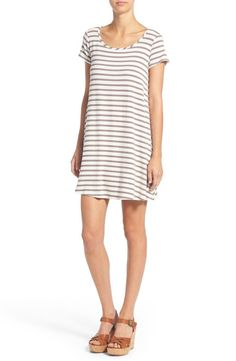 Pairing this comfy yet cute dress with bold wedges for a go-to summer look. / @nordstrom