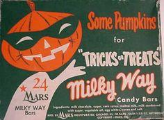 vintage Milky Way ad for Halloween Vintage Halloween Images, Retro Halloween, Halloween Items, Halloween Signs, Holidays Halloween, Spooky Halloween, Happy Halloween, Halloween Decorations, Halloween Dinner