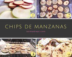 Merienda para niños: Chips de manzanas con canela   sermadrepr.com