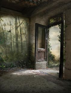 Suzanne Moxhay - 56 Artworks, Bio & Shows on Artsy Miss Clara, Cool Doors, Royal Academy Of Arts, Matte Painting, Interior Painting, Woodland Creatures, Fantasy Landscape, Photography Backdrops, Abandoned Places