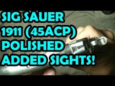 SIG SAUER 1911 POLISHED ADDED SIGHTS Find our speedloader now!  http://www.amazon.com/shops/raeind