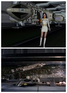 Eagle Hangar, Moonbase Alpha.