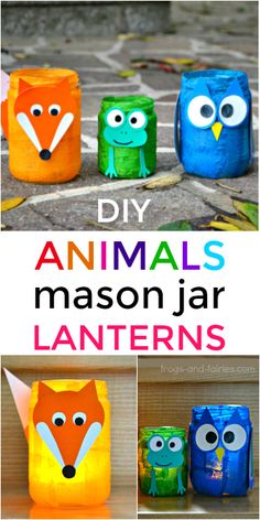Transform a regular mason jar into an adorable animal mason jar lantern! This is a fun and simple craft you can make with your kids!