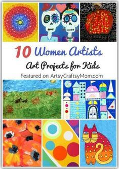 This Women's Day, celebrate some amazing female artists who've broken boundaries with art. Get kids started with our Amazing Art Projects by Women Artists, Paul Klee, Kandinsky Art, Kandinsky For Kids, Artists For Kids, Great Artists, Art Lessons Elementary, Preschool Art, Art Lesson Plans, Art Plastique