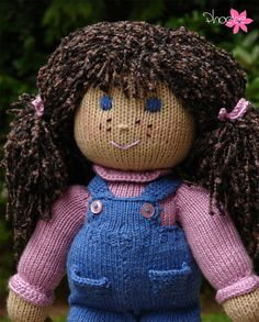Hand Knitted Girl Doll complete with clothing and by VallsCrafts, $29.95