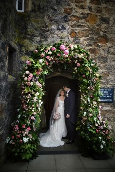 Wedding and Floral Event Styling from Planet Flowers: Jayne & James - Dundas Castle: Dundas Castle - Floral Arch