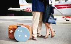 Aviation Styled Engagement Shoot . Wedding Stationery from Appleberry Press