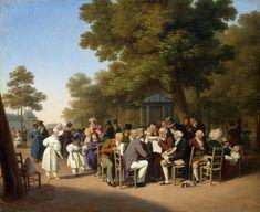 Louis Léopold Boilly - Politiciens dans les jardins des Tuileries (1832)
