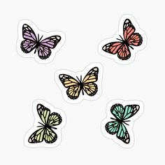 Buy 'butterflies pack by gail-snail as a Sticker, iPhone Wallet, Travel Mug, Transparent Sticker, or Glossy Sticker Tumblr Stickers, Anime Stickers, Kawaii Stickers, Cool Stickers, Printable Stickers, Laptop Stickers, Journal Stickers, Scrapbook Stickers, Homemade Stickers