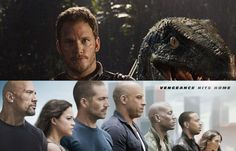 Super Bowl Spots Jurassic World and Furious 7 Hit the Airwaves!   The big game delivered some football action and a couple new TV spots for two of 2015's most anticipated films.  Jurassic World, which hits theaters on June 12, 2015, and Furious 7, continues the global exploits in the unstoppable franchise built on speed lands on April 3, 2015.