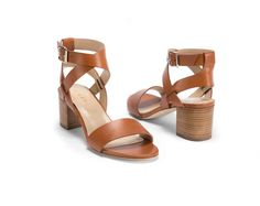 M. Gemi Attorno Sandal, Tan Luggage, Cognac Color, Block Heel Sandal, Comfortable sandal for all-day wear!