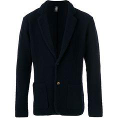 Eleventy v-neck cardigan (1.560 BRL) ❤ liked on Polyvore featuring men's fashion, men's clothing, men's sweaters, blue, mens v neck sweater, mens vneck sweater, mens v neck cardigan sweater, mens blue sweater and mens cardigan sweaters