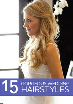 These gorgeous wedding hairstyles are perfect for girls with long hair!