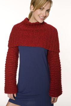 Crocheted Candy Apple Shrug (Crochet)