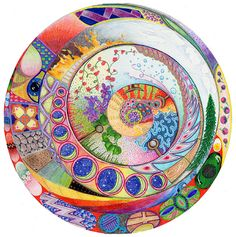 Image detail for -World Mandala Painting by Linda Crane - World Mandala Fine Art Prints ...