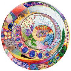 Image detail for -World Mandala Painting by Linda Crane - World Mandala Fine Art Prints ...