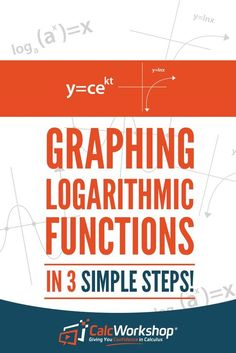 Graphing Logarithmic Functions - Learn this EASY method to graph any logarithmic function with a simple 3 step process. The secret sauce is in transformations. With 12 examples, you'll have everything you need to score well in your next quiz or test. Terrific for new teachers too. Excellent topic for high school and middle school math courses. Don't miss out on this super easy graphing method. #homeschooling #teachingresources