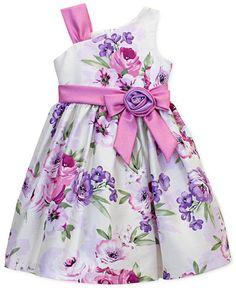 Jayne Copeland Girls' Floral Shantung Dress