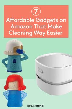 7 Gadgets on Amazon That Make Cleaning Way Easier—All Under $15 | Keeping your home clean is simple with the right tools, and we aren't talking about steam mops and robot vacuums. These little gadgets from Amazon are great for cleaning small nooks and crannies in cleaning routines. Plus, they all are budget-friendly! #cleaningtips #cleanhouse #realsimple #stepbystepcleaning #cleaninghacks #cleaningguide