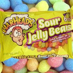 WarHeads Sour Jelly Beans - 14 oz Bag
