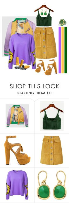"""-"" by lemonadest ❤ liked on Polyvore featuring Gucci, Mojo Moxy, M.i.h Jeans, Natasha Zinko, Monica Vinader and Diego Percossi Papi"