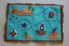 Felt Treasure Map - one to check off my list. I'm actually making one right now. :^)