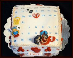 Event description Cake for loving couple: 9 inch square cake describes what happened in one month of their life  Mac & Android started conversing, fallen in Love, Decided to get into wedlock,puzzled baby talk [:-o], 1st love fight happened, met each other in person,successfully completed their 1st loving month  roses,red hearts around the cake..